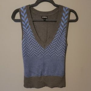Express Sweaters - Express V-Neck Sweater Vest